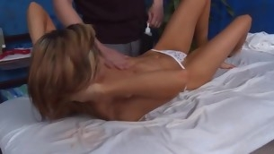 Those three gals fucked hard by their massage therapist after object a soothing rubdown