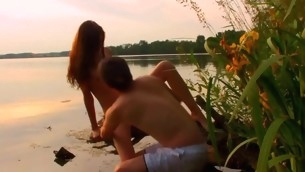 Watch first-class legal age teenager pounding taking slot in the nature