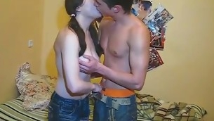 Lovely chick gets sensational wet crack hammering from lodged with someone